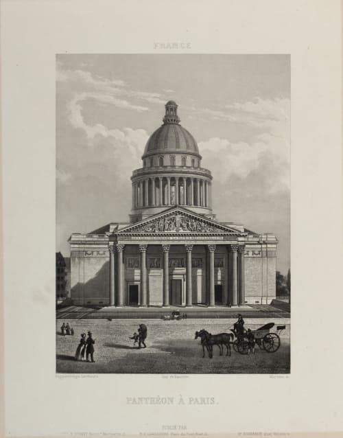Panthéon À Paris Lerebours, Noël Paymal  (French, 1807-1873)