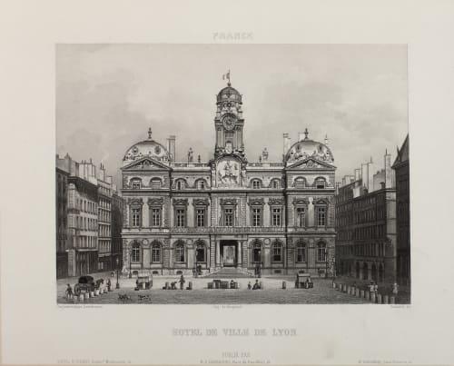 Hotel de Ville de Lyon Lerebours, Noël Paymal  (French, 1807-1873)