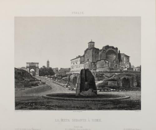 La Meta Sudante À Rome Lerebours, Noël Paymal  (French, 1807-1873)