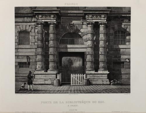 Porte de la Bibliothéque du Roi Lerebours, Noël Paymal  (French, 1807-1873)