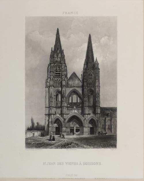 St. Jean des Vignes À Soissons Lerebours, Noël Paymal  (French, 1807-1873)