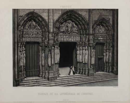 Portal de la Cathédrale de Chartres Lerebours, Noël Paymal  (French, 1807-1873)