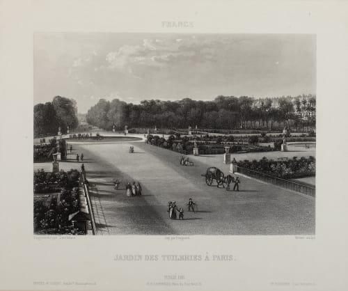 Jardin des Tuileries À Paris Lerebours, Noël Paymal  (French, 1807-1873)