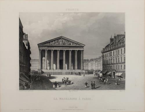La Madeleine À Paris Lerebours, Noël Paymal  (French, 1807-1873)