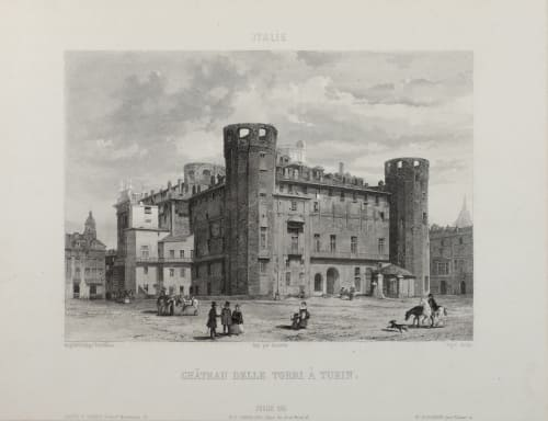 Château Delle Torri À Turin Lerebours, Noël Paymal  (French, 1807-1873)