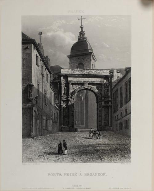 Porte Noire À Besançon Lerebours, Noël Paymal  (French, 1807-1873)