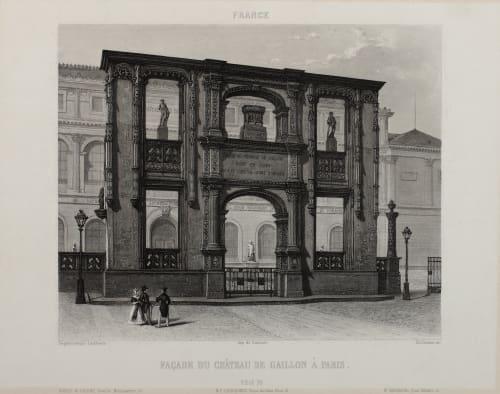 Façade du Château de Gaillon À Paris Lerebours, Noël Paymal  (French, 1807-1873)