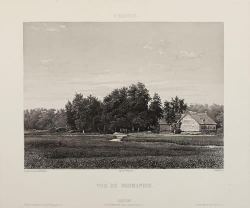 Vue de Normandie Lerebours, Noël Paymal  (French, 1807-1873)