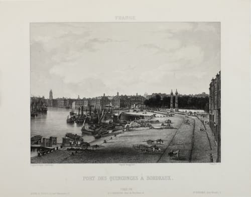 Fort des Quinconces À Bordeaux Lerebours, Noël Paymal  (French, 1807-1873)