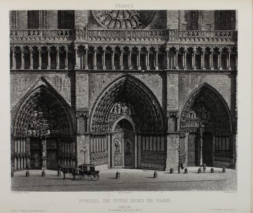 Portail de Notre Dame de Paris Lerebours, Noël Paymal  (French, 1807-1873)
