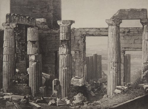 Les Propylees A Athens Joly, Pierre-Gustave  (French, 1798-1865)