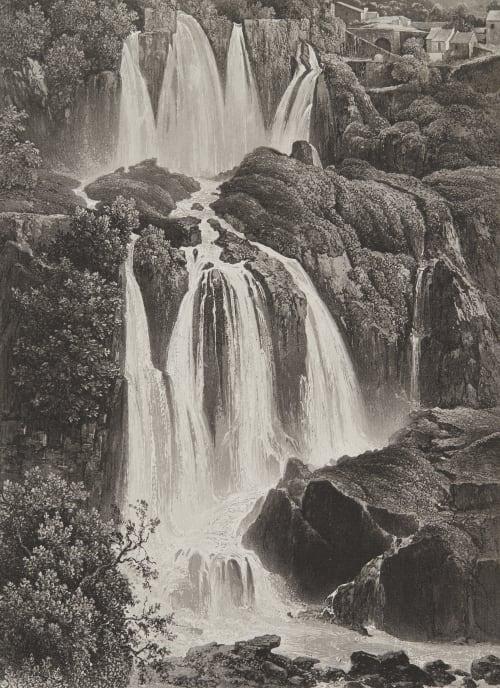 Les Cascades de Tivoli Lerebours, Noël Paymal  (French, 1807-1873)