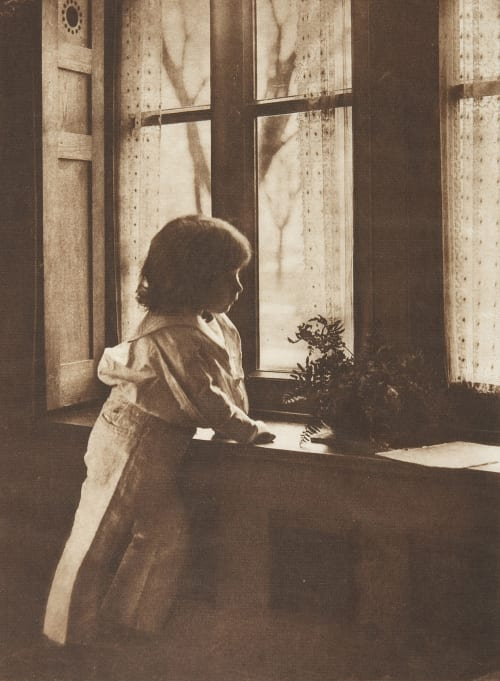 Jamie Stood Soberly at the Window, Watching Farnsworth, Emma J.  (American, 1860-1952)