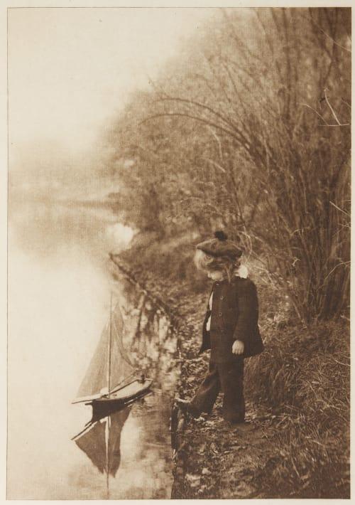 """""""Captain Jamie"""" was Very Proud of His Sip Farnsworth, Emma J.  (American, 1860-1952)"""
