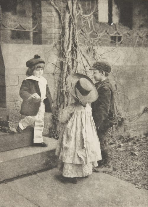 """Don't You Want this Orange?"" Farnsworth, Emma J.  (American, 1860-1952)"