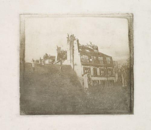 Vue de Toit, Quartier St. Sulpice Fizeau, Louis Armand Hippolyte  (French, 1819-1996)
