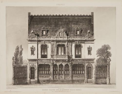 Maison Elevée rue St. Georges par M. Renaud Fizeau, Louis Armand Hippolyte  (French, 1819-1896)
