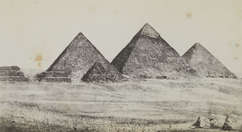 Les Trois Pyramides de Djizeh Geoffray, Stephane  (French, 1827-1895)