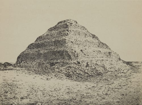 Une Pyramide. A Saqqarah: Ancienne Menphis Geoffray, Stephane  (French, 1827-1895)