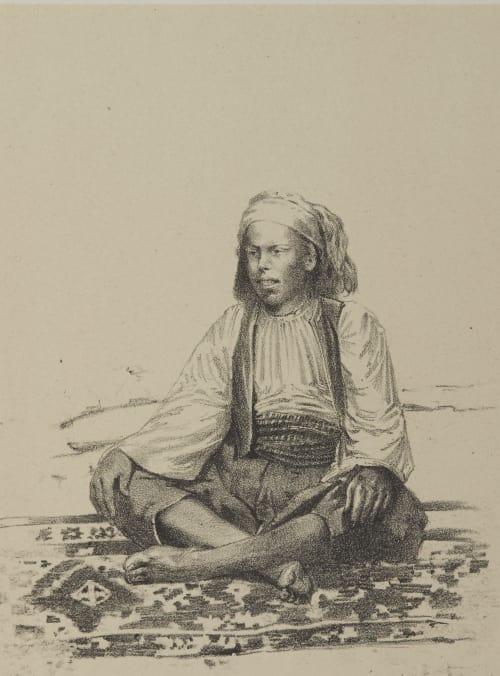 Abdallah Dans Ses Heures de Loisir Geoffray, Stephane  (French, 1827-1895)