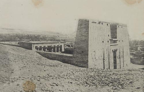Pylone et Temple. Edfour (Haute-Égypte) Geoffray, Stephane  (French, 1827-1895)