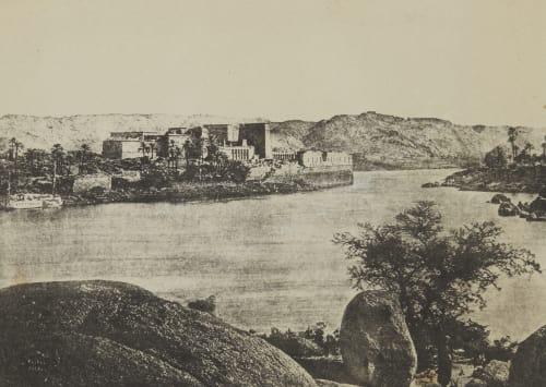 Ile De Philæ. Frontière de l'Égypte et de la Nubie Geoffray, Stephane  (French, 1827-1895)