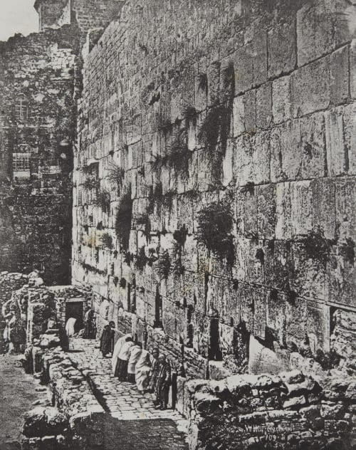 Soubassements du Temple. Lieu ou les Juifs Viennent Pleurer Jérusalem Geoffray, Stephane  (French, 1827-1895)