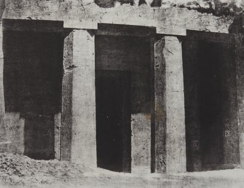Hypogées de Beni-Hassan. Commencement de L'Ordere Dorique. Haute-Égypte Geoffray, Stephane  (French, 1827-1895)