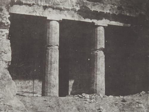 Hypogées de Beni-Hassan. Progrès de L'Ordere Dorique. Haute-Égypte Geoffray, Stephane  (French, 1827-1895)