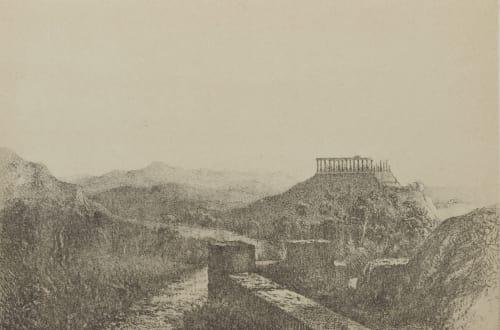 Ruines du Temple de Junon Lucine. Agrigente (Sicile). Geoffray, Stephane  (French, 1827-1895)