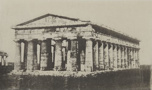 Temple de Pæstum. Près Salerne (Italie méridionale). Geoffray, Stephane  (French, 1827-1895)