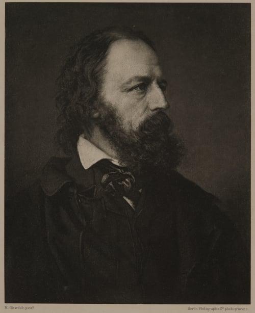 Alfred, Lord Tennyson (The favourite portrait, based on a photograph by Mayall) Mayall, John Jabez Edwin   (British, 1813-1901)