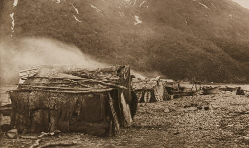 Indian Sealers' Camp, Yakutat Bay Curtis, Edward Sherrif  (American, 1868-1952)