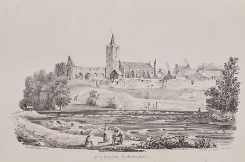 Dunblane Catherdral Hill, David Octavious  (British, 1802-1870)