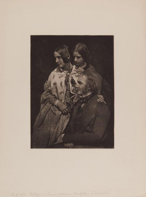 James Fillans – Sculptor – and Daughters (handwritten on sheet) Hill, David Octavious  (Scottish, 1802-1870)Adamson, Robert  (Scottish, 1821-1848)