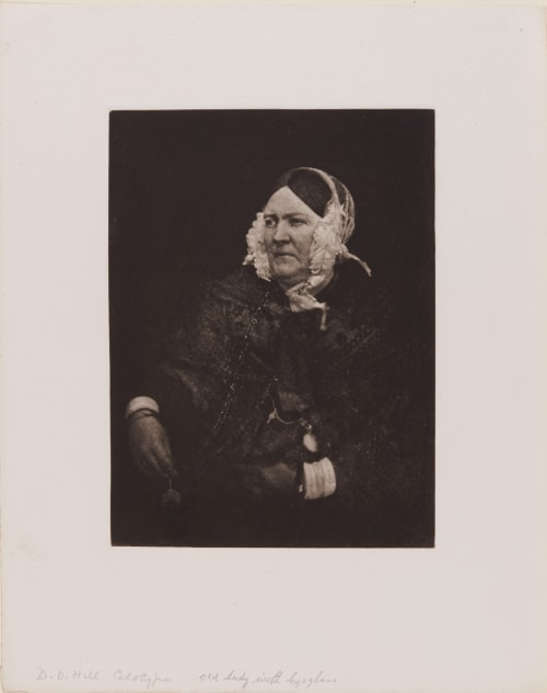 Old Lady with Eyeglasses (handwritten on sheet) Hill, David Octavious  (Scottish, 1802-1870)Adamson, Robert  (Scottish, 1821-1848)