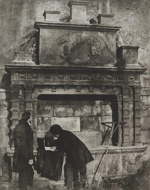 D.O. Hill and Companion in Greyfriar's Churchyard, Edinburgh Hill, David Octavious  (Scottish, 1802-1870)Adamson, Robert  (Scottish, 1821-1848)