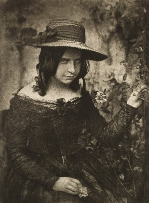 Girl in Straw Hat Hill, David Octavious  (Scottish, 1802-1870)Adamson, Robert  (Scottish, 1821-1848)
