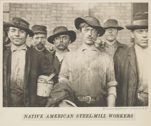 Native American Steel-Mill Workers Hine, Lewis  (American, 1874-1940)