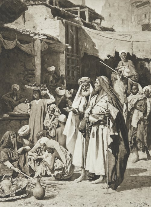 Popular Scene at Cairo Junghaendel, R. M.  (German, 1888–1898)
