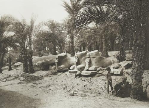 Avenue of Sphinxes at Karnak Junghaendel, R. M.  (German, 1888–1898)