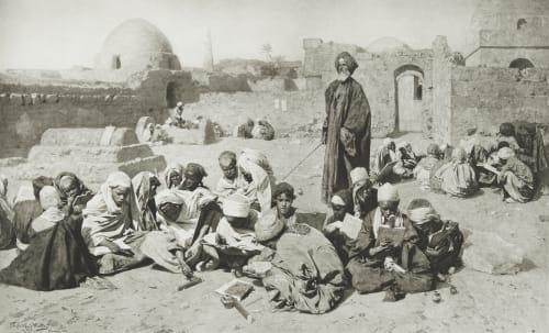 School in Upper-Egypt Junghaendel, R. M.  (German, 1888–1898)
