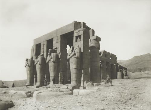 Rameseum at Thebes Junghaendel, R. M.  (German, 1888–1898)