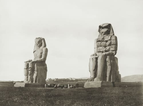 Colossi of Memnon at Thebes Junghaendel, R. M.  (German, 1888–1898)