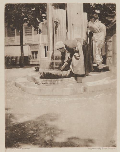 Fountain – Market Place, Aix-les-Bains Davison, George  (British, 1854-1930)