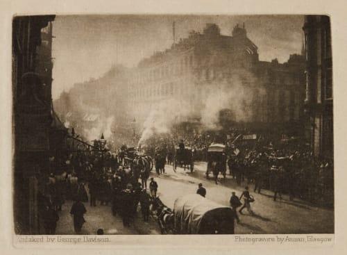 Fire in Oxford Street Davison, George  (British, 1854-1930)