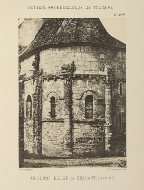 Ancienne Eglise de Cravant, (Abside) Lafollye, Charles Jules  (French, 1817-1888)