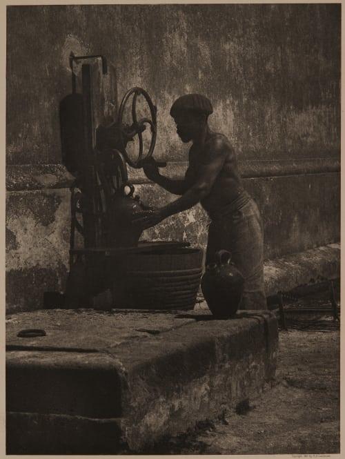 A Water Carrier – Cuba Latimer, Horace A  (American, 1860-1931)