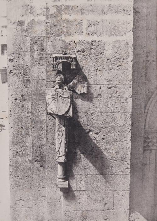L'ange qui porte un cadran solaire Le Secq, Henri  (French, 1818-1882)