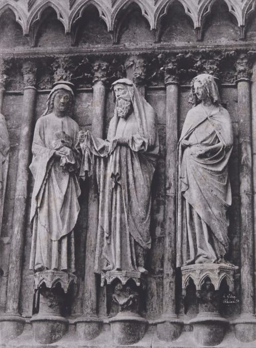 Cathedrale de Rheims, Sculptures de la Visitation Le Secq, Henri  (French, 1818-1882)